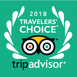 2018 Trip Advisor Travelers' Choice winner!